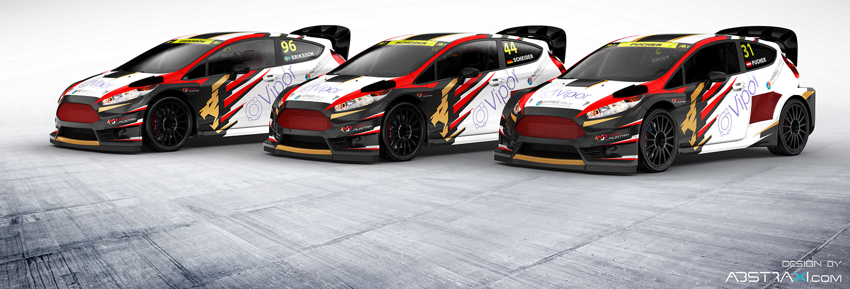 MJP Racing unveils liveries for 2017 World Rallycross Championship ...